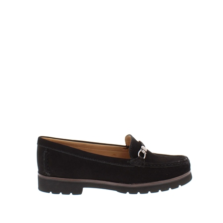 Andria Black Leather Loafers  - Click to view a larger image