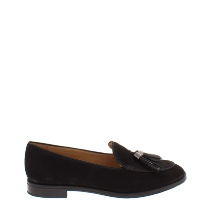 Angela Black Leather Loafer  - Click to view a larger image