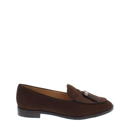 Angela Brown Leather Loafer  - Click to view a larger image
