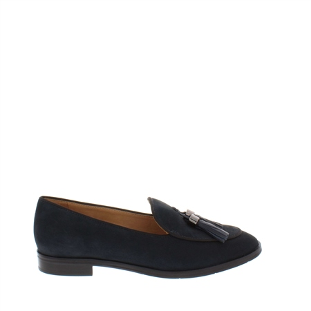 Angela Navy Leather Loafer  - Click to view a larger image