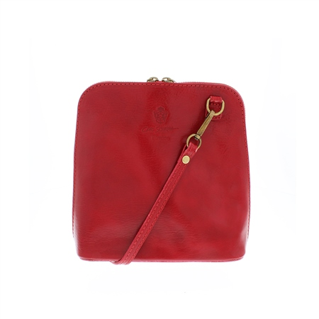 Renata Red Leather Bag  - Click to view a larger image