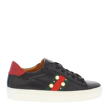 Davina Black Embellished  Trainers  - Click to view a larger image