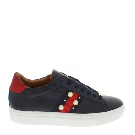 Davina Navy Embellished Trainers  - Click to view a larger image