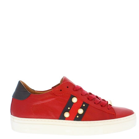 Davina Red Embellished Trainers