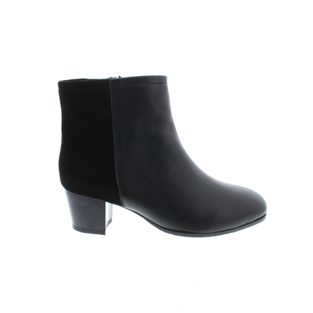 Cara Black Leather Ankle Boots  - Click to view a larger image