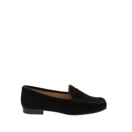 Giuliana Black Suede Loafers  - Click to view a larger image