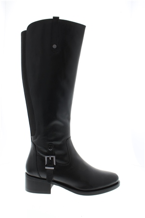 Katrina Black Leather Boots  - Click to view a larger image