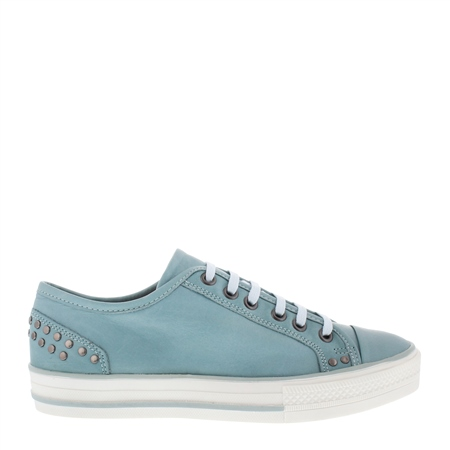 Carlotta Blue Lace Up Trainers  - Click to view a larger image