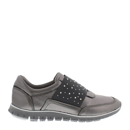 Emeline Chrome Slip-On Trainers
