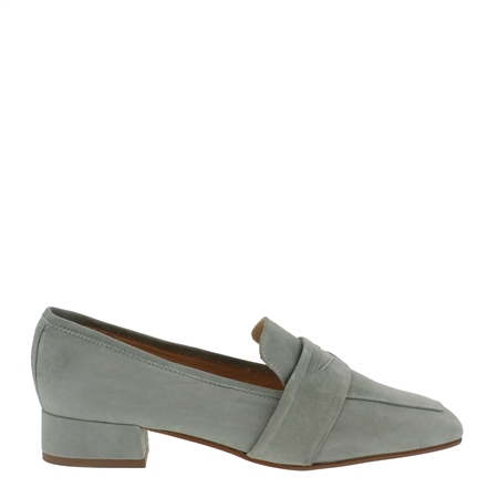 Ginevra Mint Suede Loafers 1