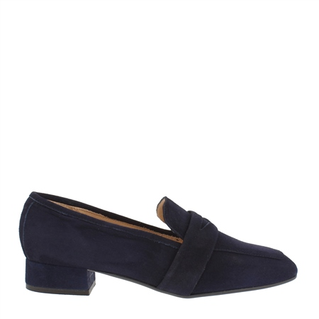 Ginevra Navy Suede Loafers  - Click to view a larger image