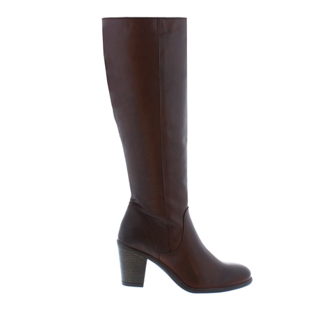 Loren Brown Leather Knee High Boots  - Click to view a larger image