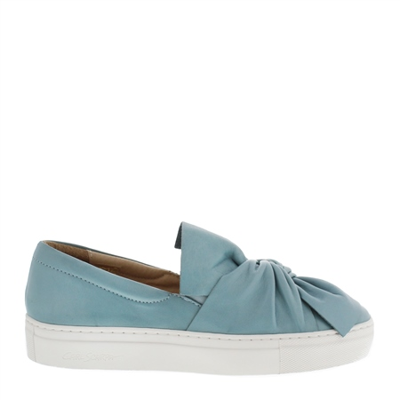 Ellie Blue Slip-On Trainers  - Click to view a larger image