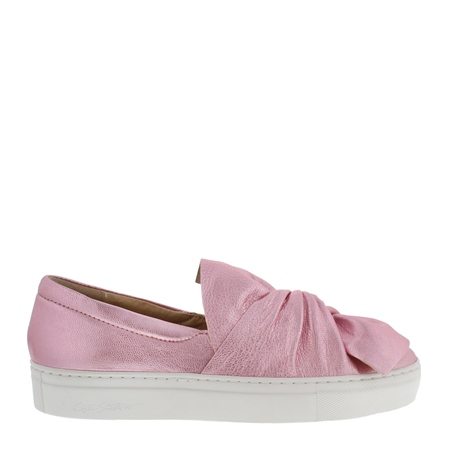 Ellie Metallic Pink Slip-On Trainers  - Click to view a larger image