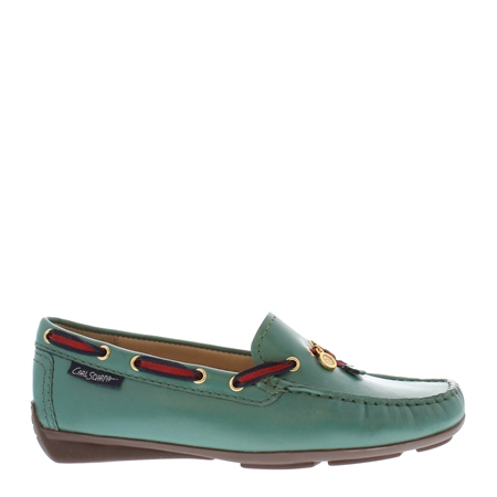 Faris Green Slip-On Loafers  - Click to view a larger image