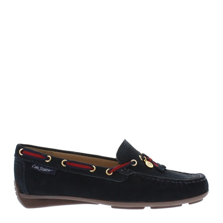 Faris Navy Slip-On Loafers  - Click to view a larger image