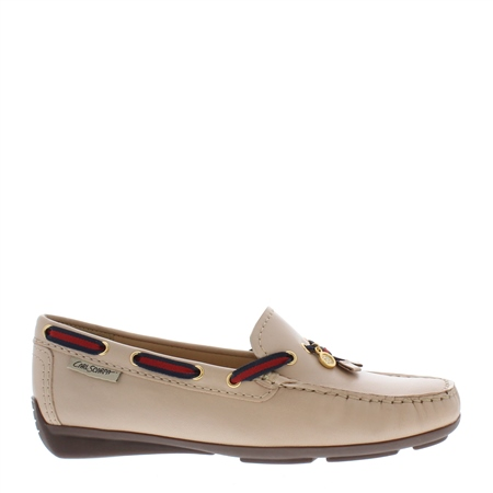 Faris Nude Slip-on Loafers  - Click to view a larger image