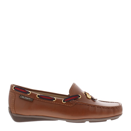 Faris Tan Leather Slip-On loafers  - Click to view a larger image