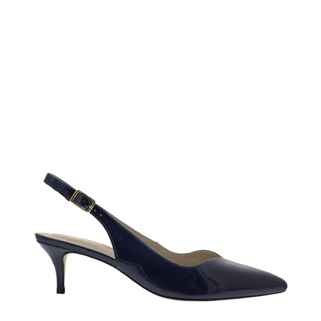 Raemira Navy Kitten Heel Courts  - Click to view a larger image
