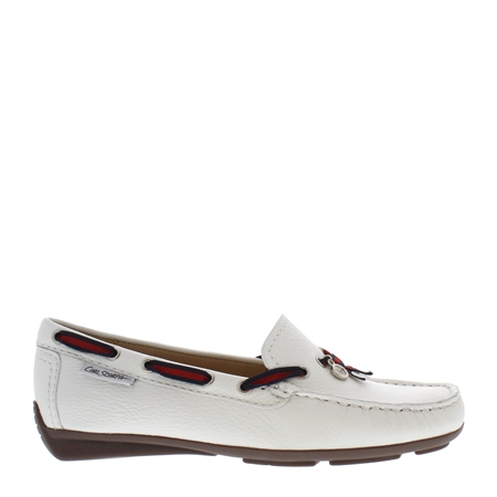 Faris White Slip-On Loafers  - Click to view a larger image