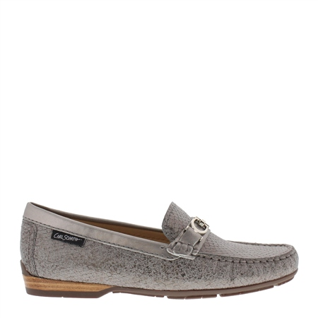 Hazelle Pewter Loafers  - Click to view a larger image