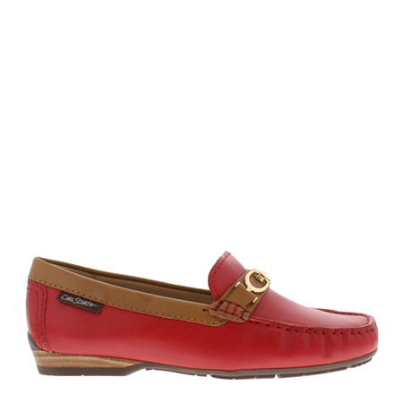Hazelle Red Loafers  - Click to view a larger image