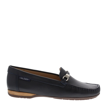 Helga Navy Loafers  - Click to view a larger image