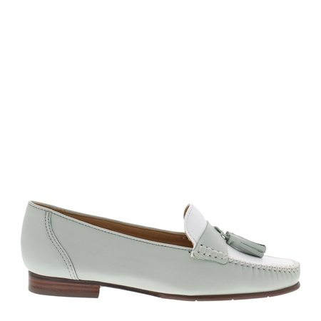 Hilde Mint Leather Loafers  - Click to view a larger image