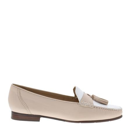 Hilde Nude Leather Loafers  - Click to view a larger image