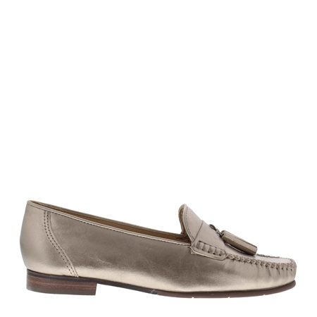 Hilde Pewter Leather Loafers