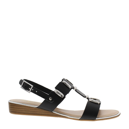 Ervina Black Sandals  - Click to view a larger image