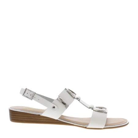 Ervina White Sandals  - Click to view a larger image