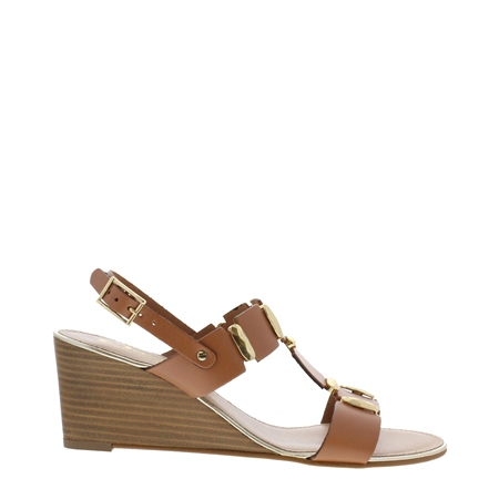 Esperanza Tan Wedge Sandals  - Click to view a larger image