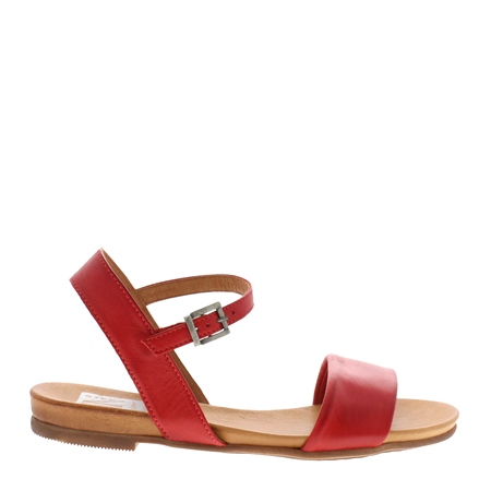 Tianna Red Leather Sandals