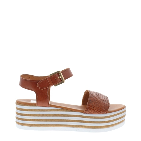 Fatima Tan Flatform Sandal