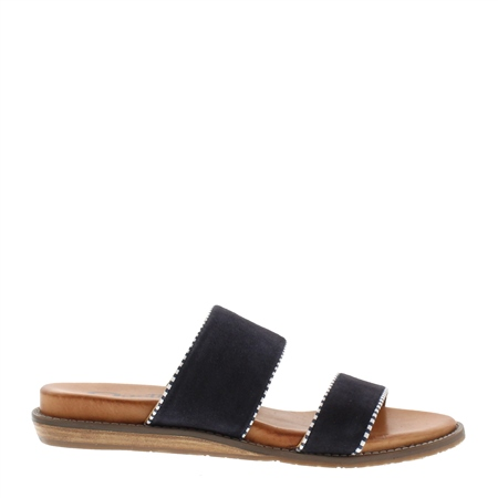 Willow Navy Slip-On Sandals  - Click to view a larger image