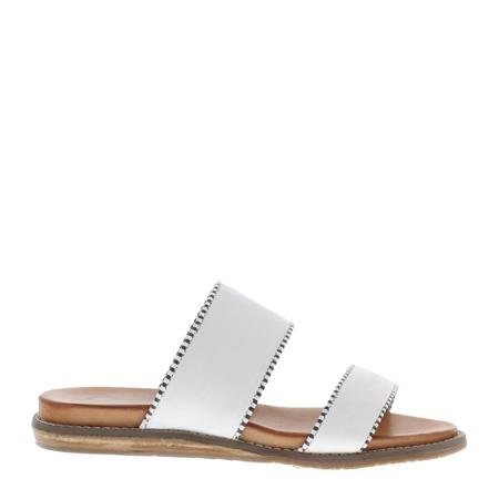 Willow White Slip-On Sandals