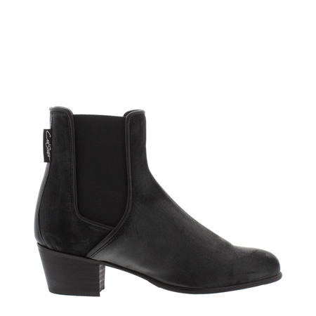 Claudia Pewter Low Heel Chelsea Ankle Boots