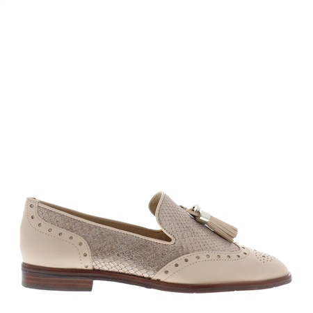 Alma Taupe Leather Loafers  - Click to view a larger image