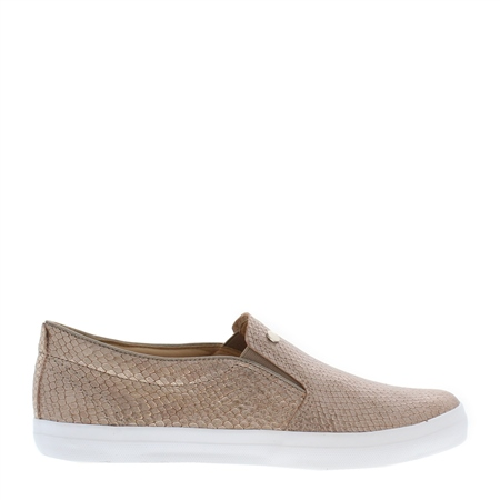 Carolina Taupe Slip-On Trainers  - Click to view a larger image