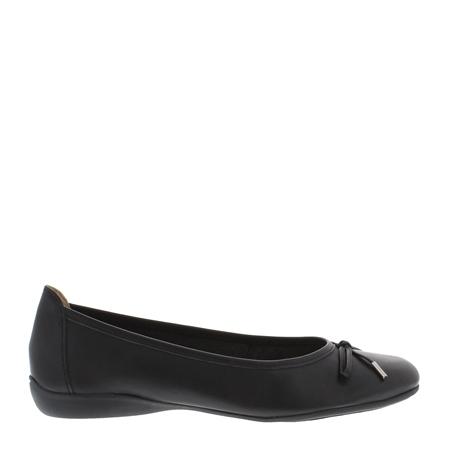 Hosanna Black Leather Flats