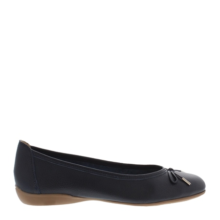 Hosanna Navy Leather Flats