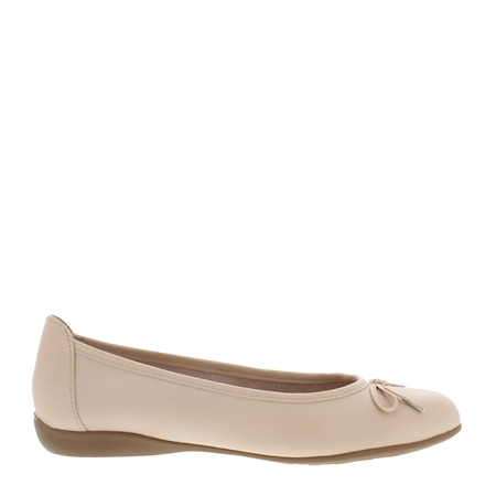 Hosanna Nude Leather Flats  - Click to view a larger image