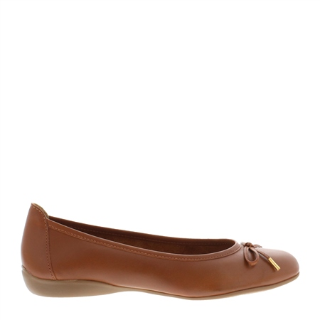Hosanna Tan Leather Flats  - Click to view a larger image