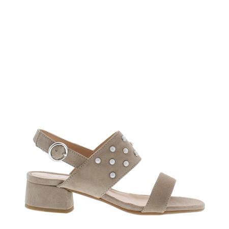 Odelia Block Heel Beige Sandals