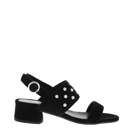 Odelia Block Heel Black Sandals  - Click to view a larger image