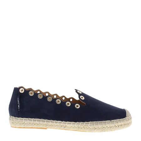Chloe Navy Espadrilles  - Click to view a larger image