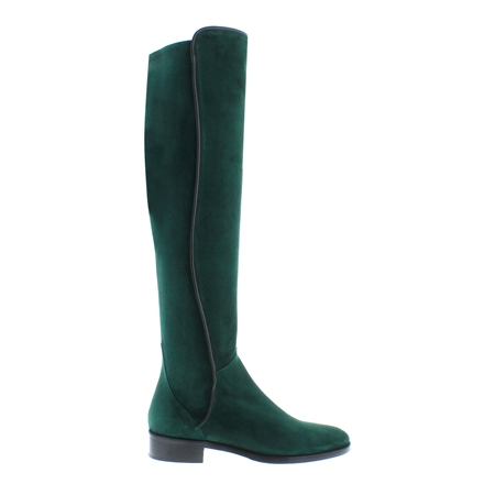 Emma Green Suede Knee-High Boots  - Click to view a larger image