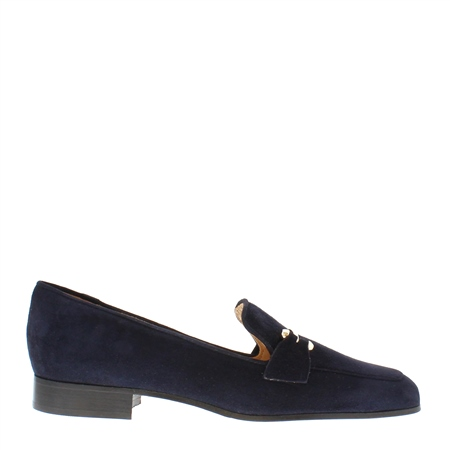 Felicity Navy Suede Loafers
