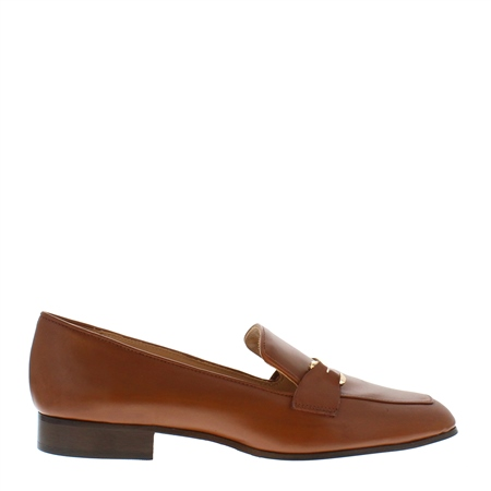 Felicity Tan Leather Loafers  - Click to view a larger image